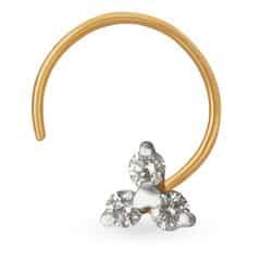 Tanishq Diamond Treats 18KT Yellow Gold Diamond Nose Pin with Clover Design