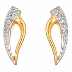 Tanishq Diamond Treats 18KT Yellow Gold Diamond Stud Earrings