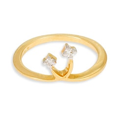 Tanishq 18 KT Yellow Gold DIAMOND Finger Ring For Women-501068FUNHAA04