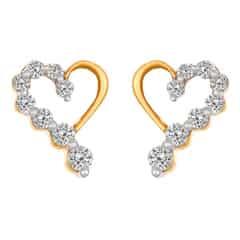 Tanishq Diamond Treats 18KT Rose Gold Diamond Stud Earrings