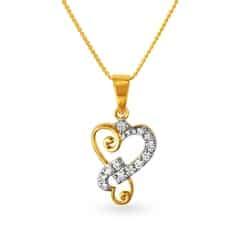 Tanishq Diamond Treats 18KT Yellow Gold Diamond Pendant