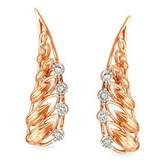 Tanishq Diamond Treats 18KT White and Rose Gold Diamond Stud Earrings