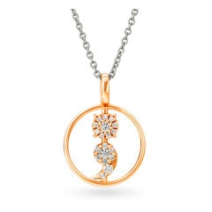 Tanishq Symbol of Strength 18KT Rose Gold Diamond Pendant
