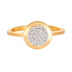 Tanishq 18KT Yellow Gold Studded Finger Ring