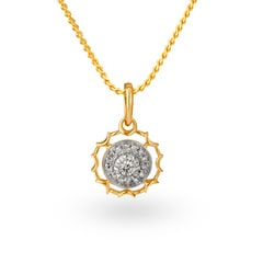 Tanishq Diamond Treats 18KT Yellow Gold Diamond Pendant
