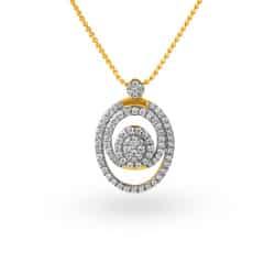 Tanishq 18KT Yellow Gold Diamond Pendant