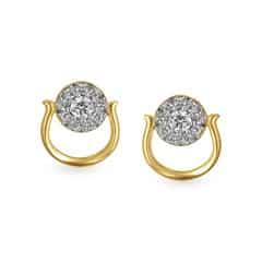 Tanishq 18KT Yellow Gold Diamond Stud Earrings