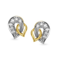 Tanishq 18KT Gold and Diamond Stud Earrings