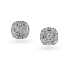 Tanishq 18KT Yellow Gold Diamond Stud Earrings
