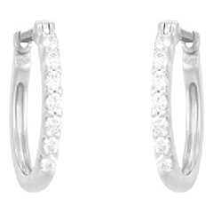 Tanishq Diamond Treats 18KT White Gold Diamond Hoop Earrings