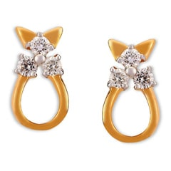 Tanishq Diamond Treats 18KT Yellow Gold Diamond Stud Earrings