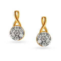 18KT Gold and Diamond Stud Earrings