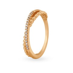 Tanishq Mangalam 18KT Rose Gold Diamond Finger Ring