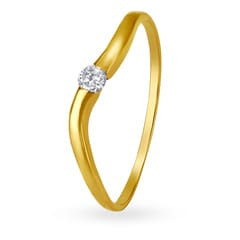 18KT Gold and Diamond Finger Ring