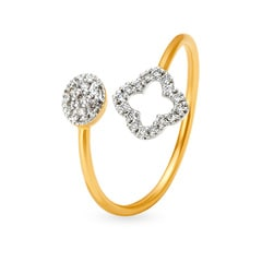 Tanishq Mangalam 18KT Yellow and White Gold Diamond Finger Ring