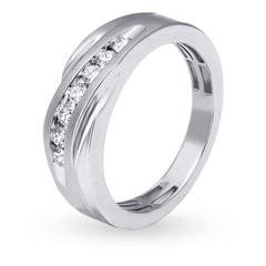 Tanishq 18KT White Gold Diamond Finger Ring