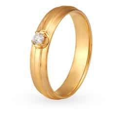 Tanishq Mangalam 18KT White and Rose Gold Diamond Finger Ring
