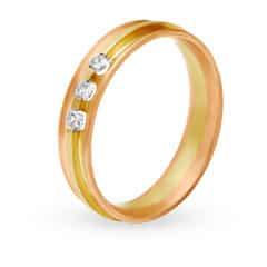 Tanishq 18KT White & Rose Gold Diamond Finger Ring