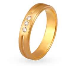 Tanishq Mangalam 18KT Yellow and White Gold Diamond Finger Ring