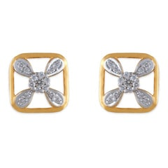 Tanishq Zuhur 18 KT Yellow Gold DIAMOND Stud Earring For Women-503414SBFABA02
