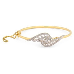 Tanishq 18KT Yellow Gold Diamond Bangle