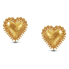 Tanishq 22KT Yellow Gold Stud Earrings for Women
