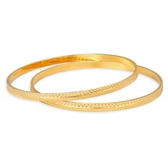 Tanishq Aurum 22 KT Yellow Gold Bangle For Women-510545VKAR2A00