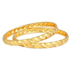 Tanishq Aurum 22 KT Yellow Gold Bangle For Women-510901VAAR2A00