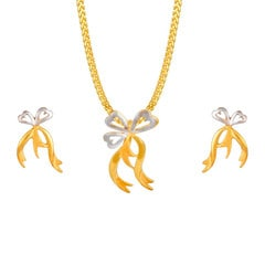 Tanishq 22 KT Yellow Gold Pendant Set For Women-5111151CAAAA00
