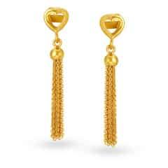 Tanishq 22KT Yellow Gold Drop Earrings