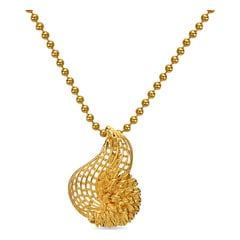 Tanishq 22KT Yellow Gold Pendant with Conch Design