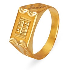 Tanishq 22KT Yellow Gold Finger Ring