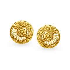 Tanishq 22KT Yellow Gold Stud Earrings