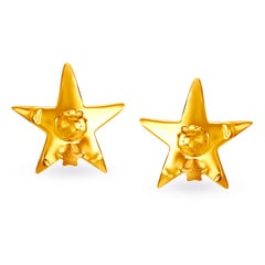 22KT Gold Stud Earrings