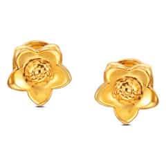 Tanishq 22KT Yellow Gold Stud Earrings for Women