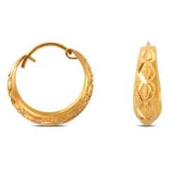 Tanishq 22KT Yellow Gold Hoop Earrings