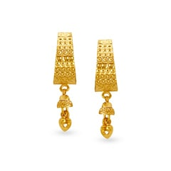 Tanishq 22KT Yellow Gold Hoop Earrings