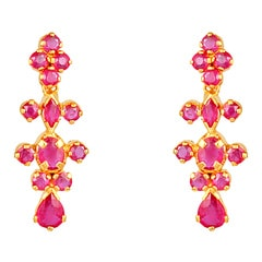 Tanishq 22 KT Yellow Gold RUBY Drop Earring For Women-512311DFHABA18