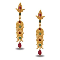 Tanishq 22KT Yellow Gold Drop Earrings for Women