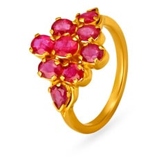 22KT Gold and Ruby Finger Ring