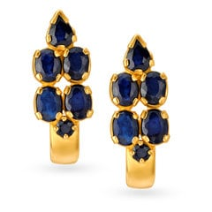 22KT Gold and Sapphire Stud Earrings