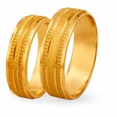 Tanishq 22KT Yellow Gold Finger Ring