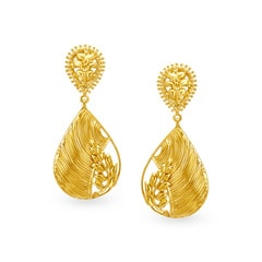Tanishq 22KT Yellow Gold Drop Earrings