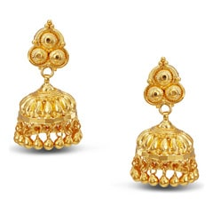 Tanishq 22KT Yellow Gold Jhumka for Women