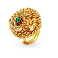 Tanishq Mangalam 22KT Yellow Gold Finger Ring