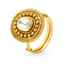 Tanishq Mangalam 22KT Yellow Gold Finger Ring with Oval Design