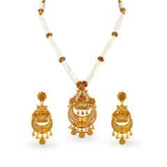 Padmavati by Tanishq 22KT Yellow Gold Neckwear Set