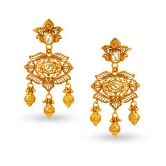Padmavati by Tanishq 22KT Yellow Gold Neckwear Set