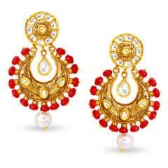 Padmavati by Tanishq 22KT Yellow Gold Drop Earrings