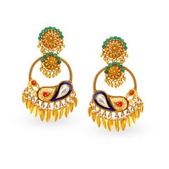 Padmavati by Tanishq 22KT Yellow Gold Drop Earrings